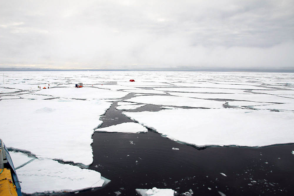 Cracking down: Lance ends six-month expedition on thin ice as scientists save gear while floe shatters