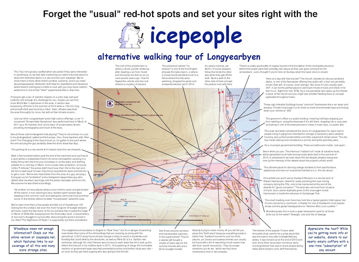 Who charted? Discover the people and places that truly rank with Icepeople's Alternative Walking Tour of Longyearbyen