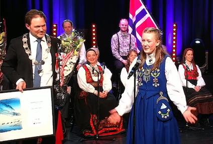 'ALWAYS POSITIVE TO COLLABORATE WITH OTHERS ACROSS AGES AND STAGES': Niva Stiberg-Hansen, 17, lifetime Longyearbyen student, wins this year's youth cultural stipend